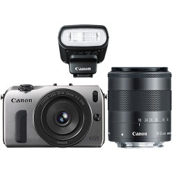 Canon EOS M kit (Ống kính EF-M 22mm f/2 + EF-M 18-55mm f/3.5-5.6 IS + Flash Speedlite 90EX)