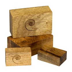 Cardas Golden Cuboids Myrtle Wood Blocks
