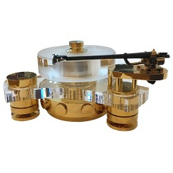 Transrotor Turntable Tourbillon FMD (Tonearm SME V-12, Option Goldplate Aulluminium)